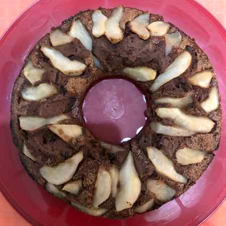 Torta cioccolato e pere con ricotta