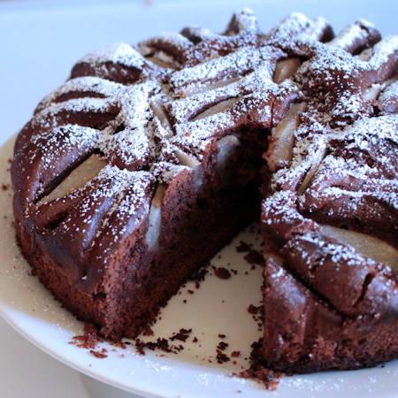 Torta cioccolato e pere di Montersino