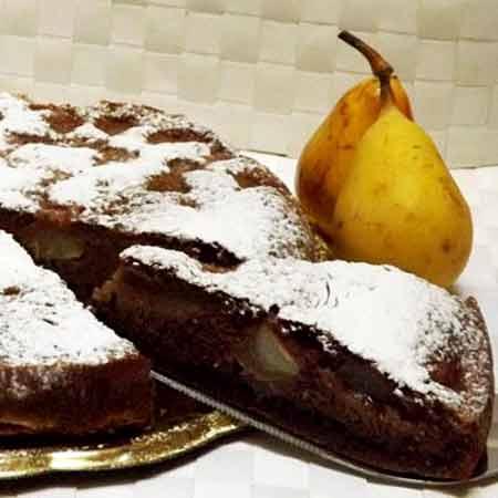Torta cioccolato e pere fit