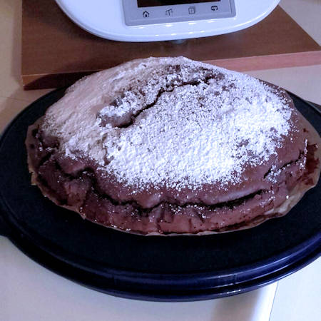 Torta cioccolato e pinoli