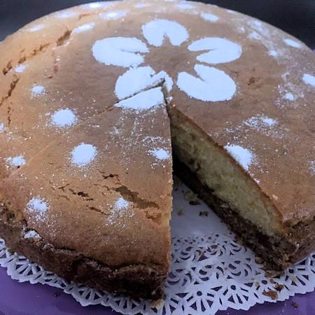 Torta con base crostata