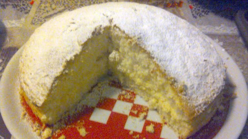 Torta con fecola e crema pasticcera