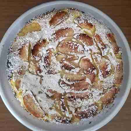 Torta crema e mele