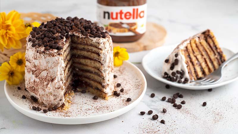 Torta di pancake alla Nutella