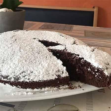 Torta di zucca avena e cioccolato