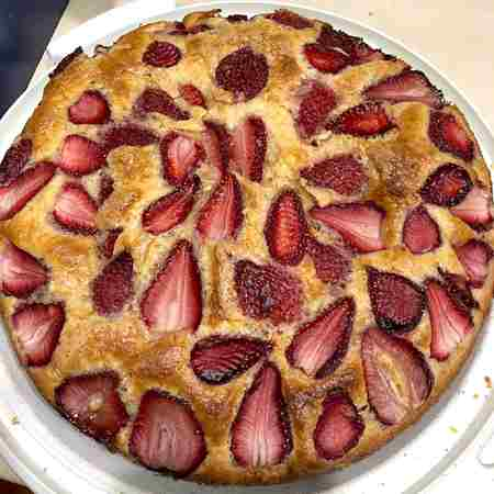 Torta fragole e yogurt