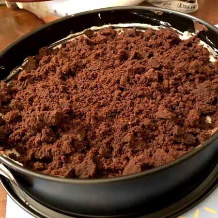 Torta fredda Pan di Stelle e stracciatella
