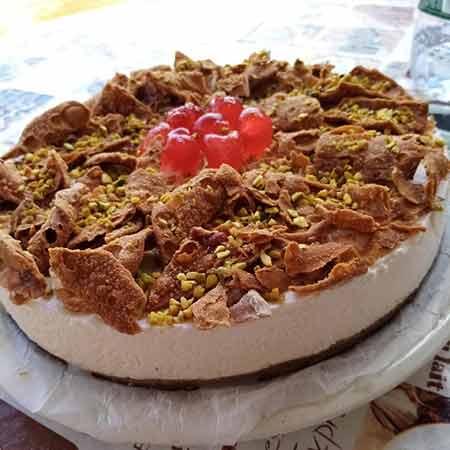 Torta gelato cannolo siciliano