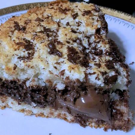 Torta magica cocco e Nutella