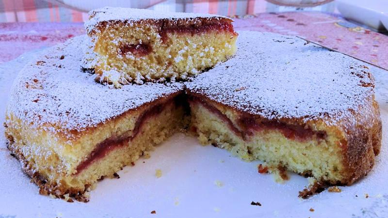 Torta morbida alla marmellata (senza glutine)