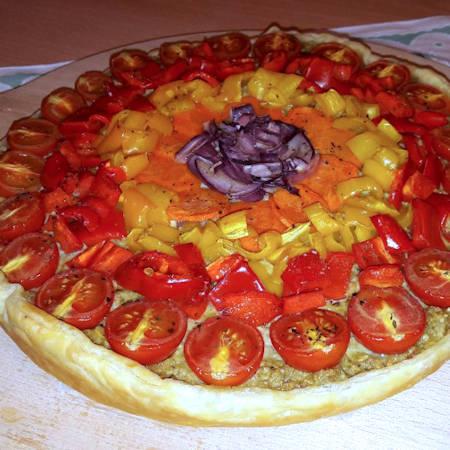 Torta rainbow vegetariana