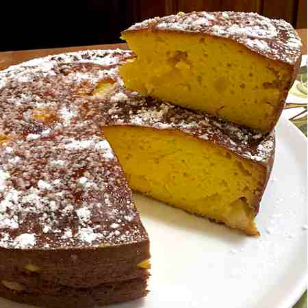 Torta ricotta yogurt e ananas