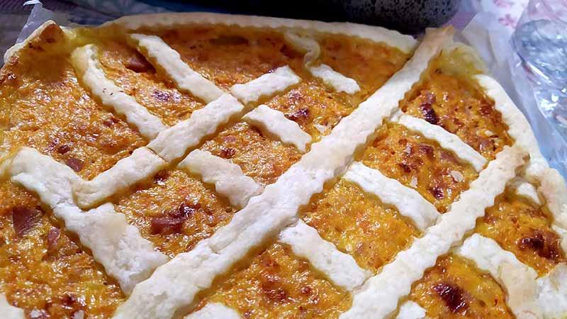 Torta rustica zucca e prosciutto cotto