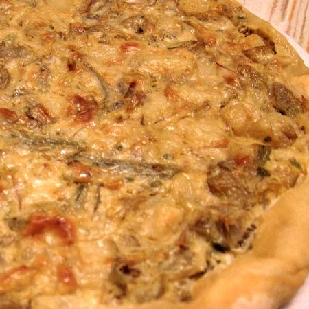 Torta salata con i carciofi