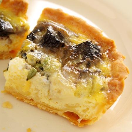 Torta salata funghi e prosciutto