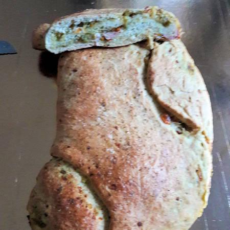 Torta salata in crosta di pane