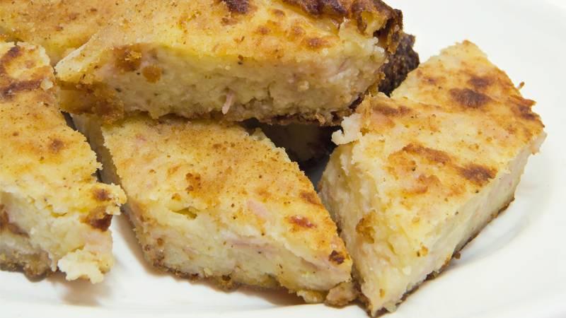Torta salata patate e mortadella