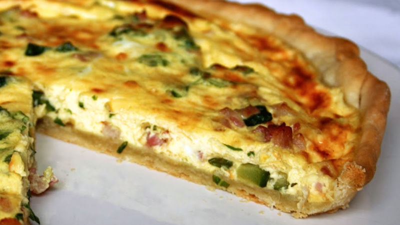 Torta salata zucchine e porri
