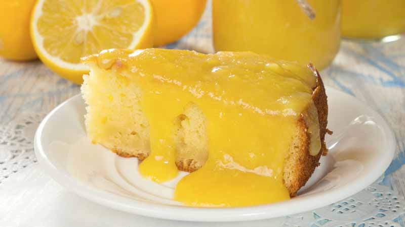 Torta veloce al lemon curd