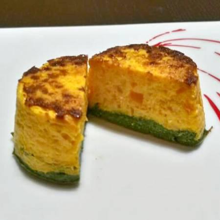 Tortini bicolore spinaci e carote