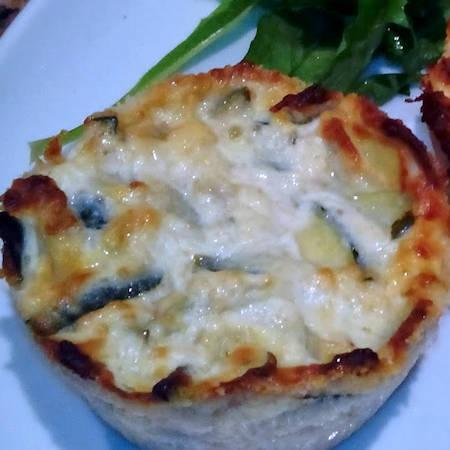 Tortini di zucchine e fontina