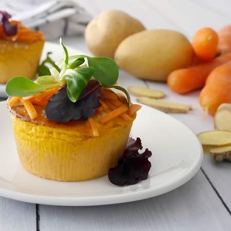 Tortino di patate, carote e zenzero