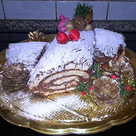 Tronchetto di Natale alla Nutella