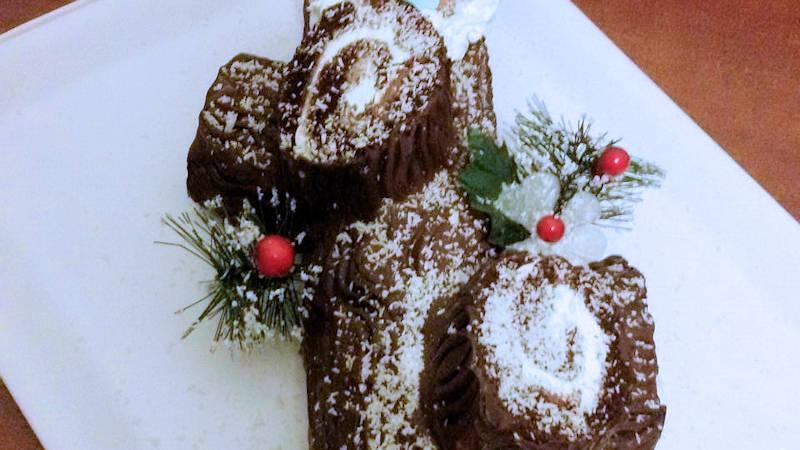 Torta Tronchetto Di Natale.Tronchetto Di Natale Nutella E Panna