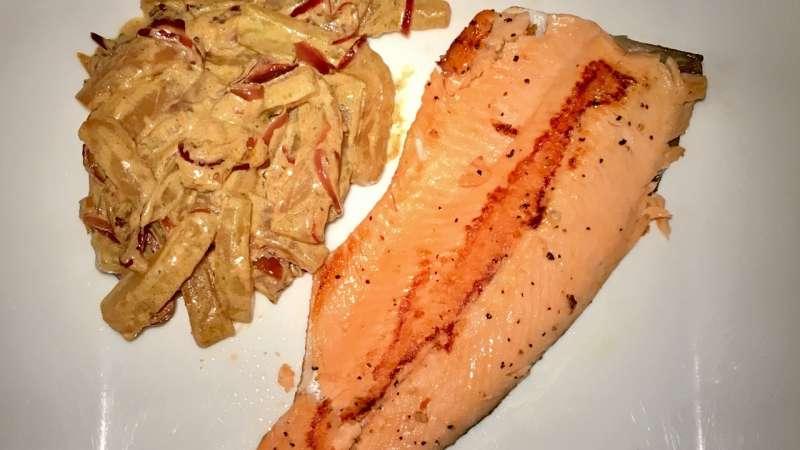 Trota salmonata con cetrioli al curry ricette bimby for Cucinare cetrioli