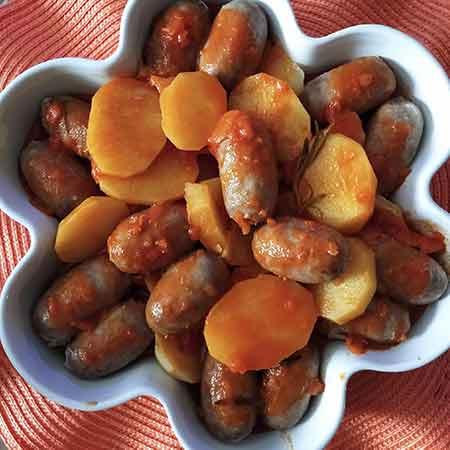 Verzini con patate in umido