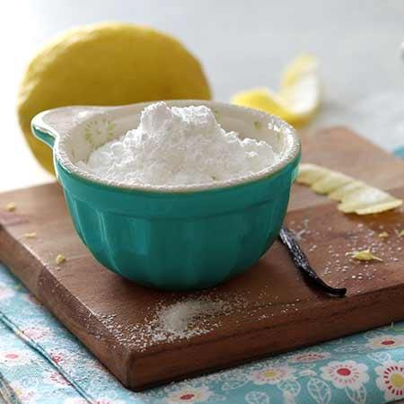 Zucchero a velo aromatizzato limone e vaniglia