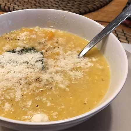 Zuppa ceci e zucca