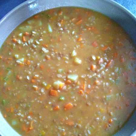 Zuppa di lenticchie con farro
