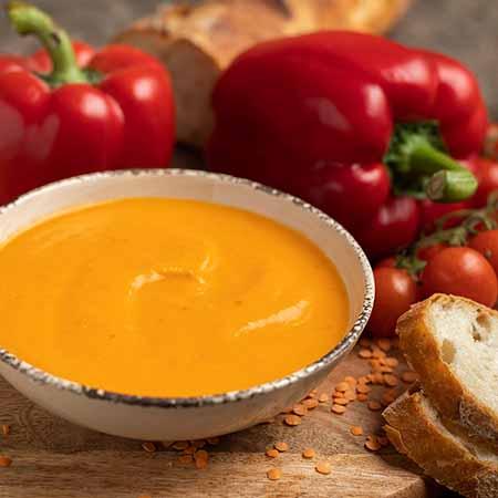 Zuppa di peperoni rossi
